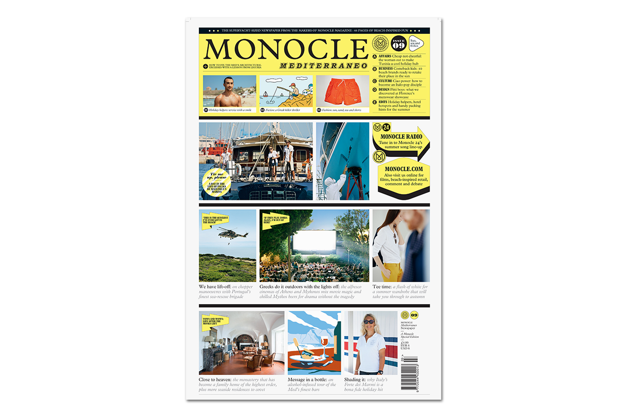 "Image of Monocle 2015 Summer ""Mediterraneo"" Newspaper"