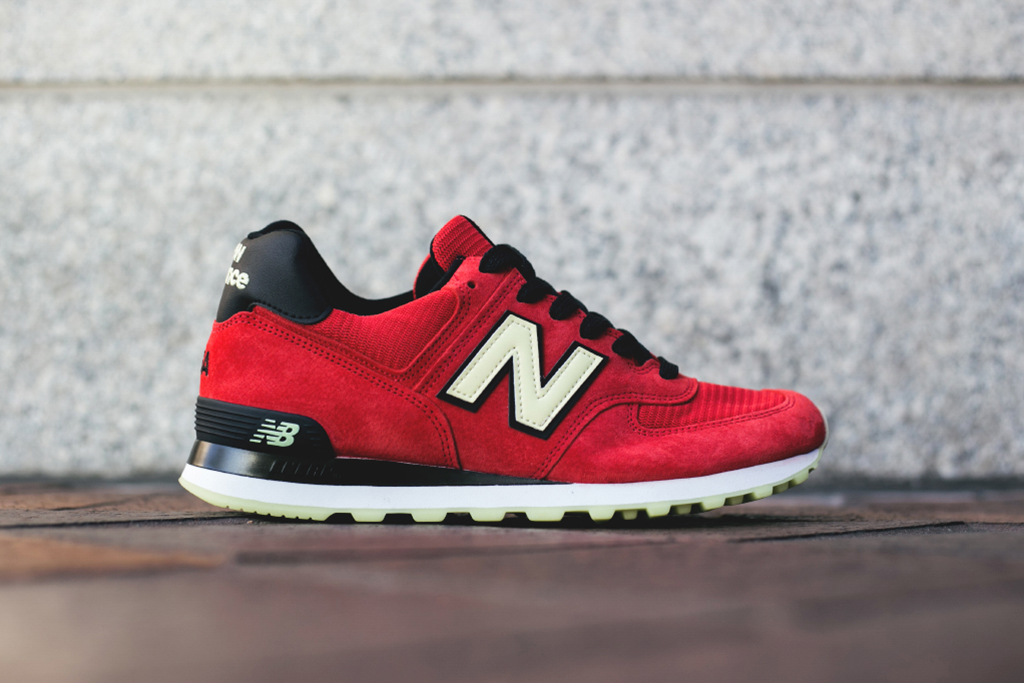 Image of New Balance Made in USA M574 Red/Black/White