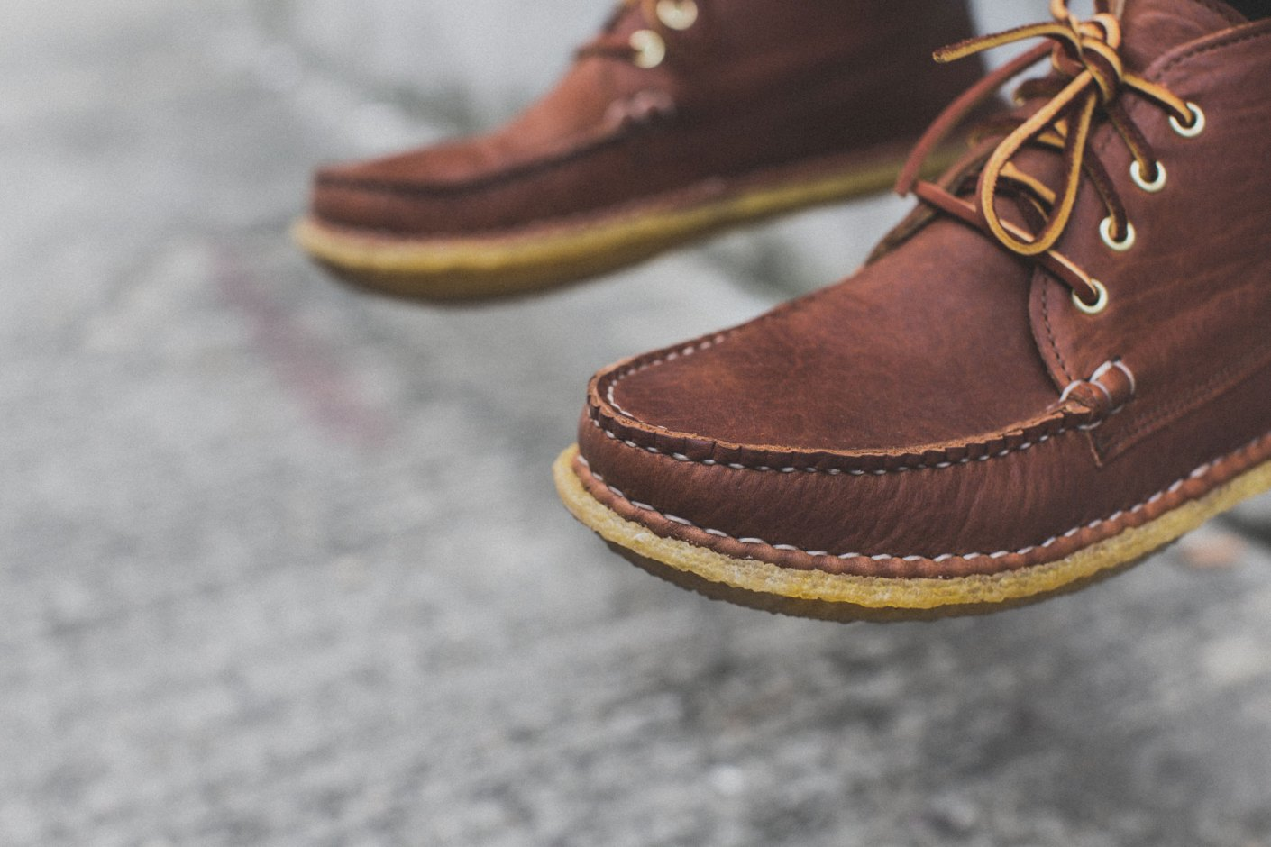 "Image of New England Outerwear Quarter Boot Crepe ""Tan Acadia"""