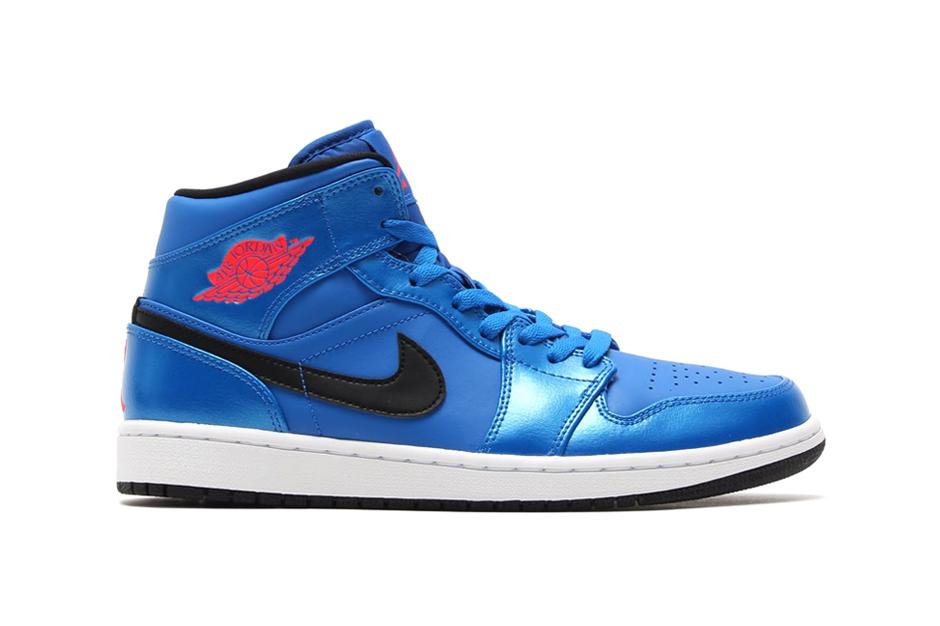 Image of Air Jordan 1 Mid Sport Blue/Infrared 23