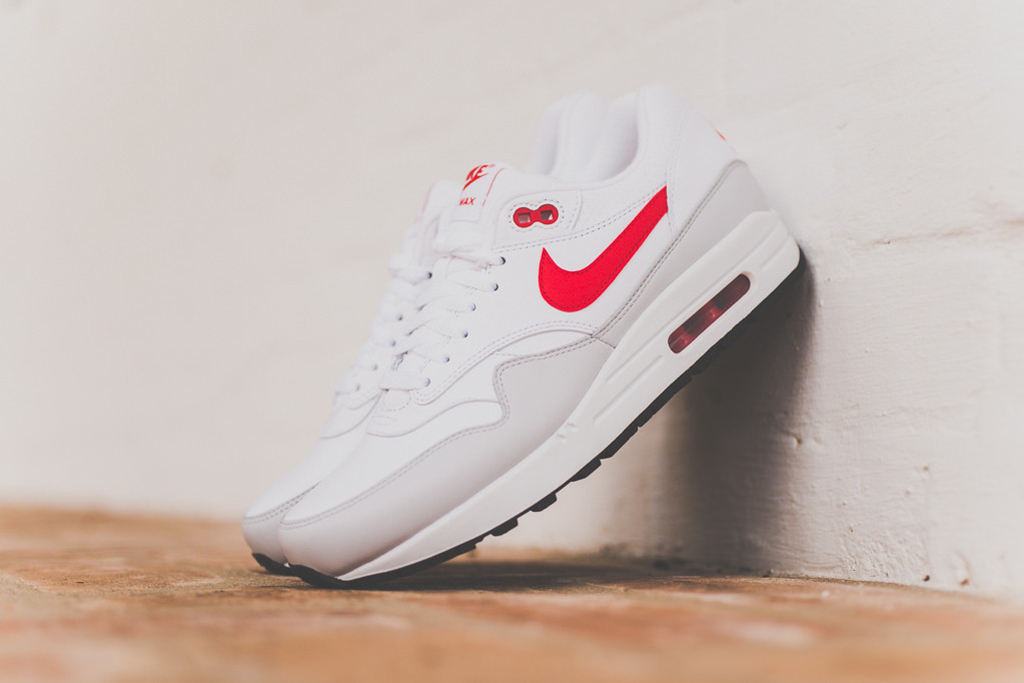 Image of Nike Air Max 1 Leather White/University Red