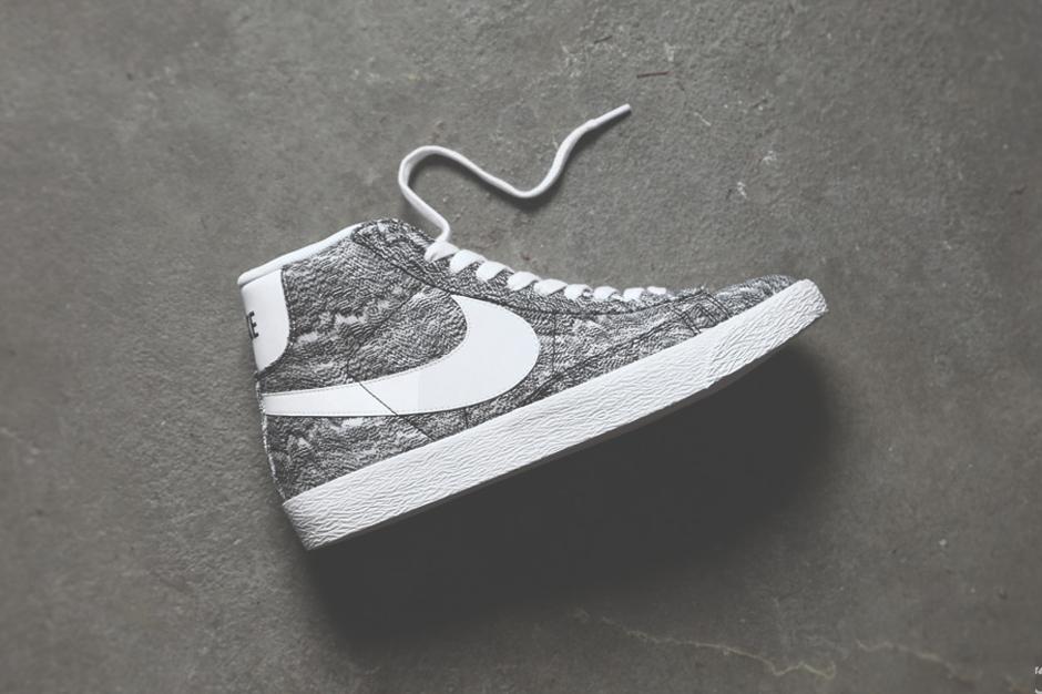Image of Nike Blazer Mid Premium TXT QS Black/White