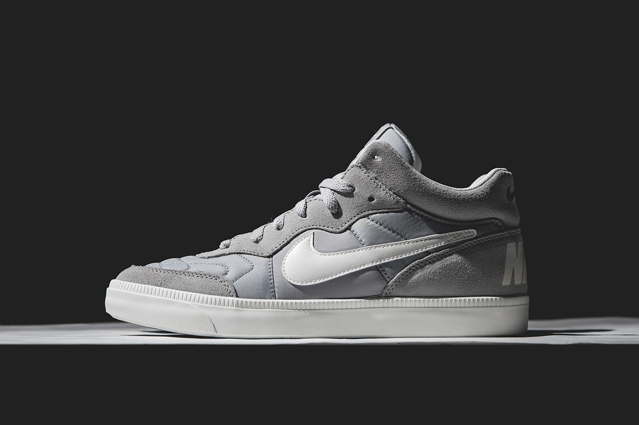 "Image of Nike Sportswear Tiempo Trainer Mid ""Wolf Grey"""