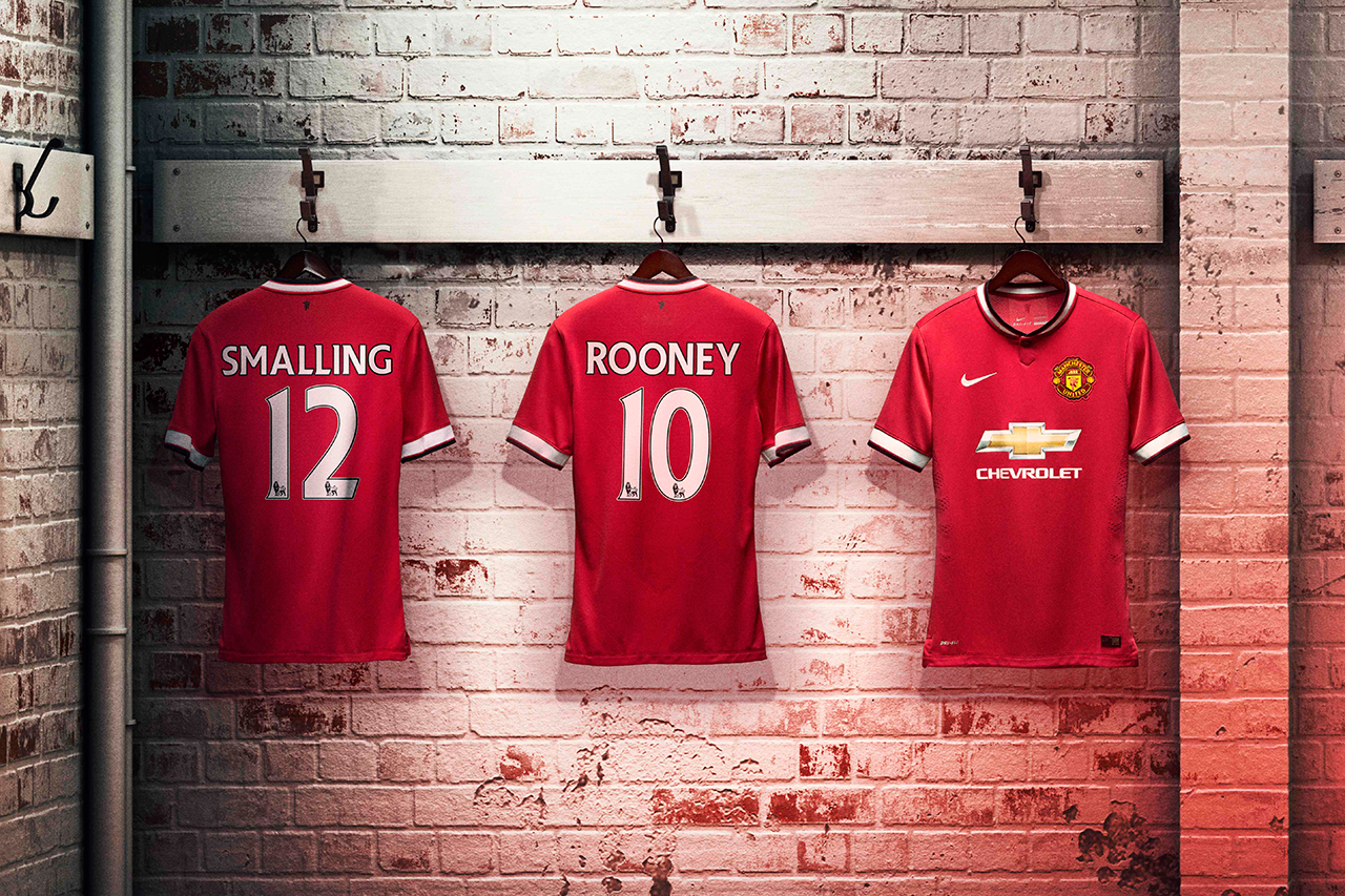 Image of Nike Unveils Manchester United's 2014/15 Home Kit