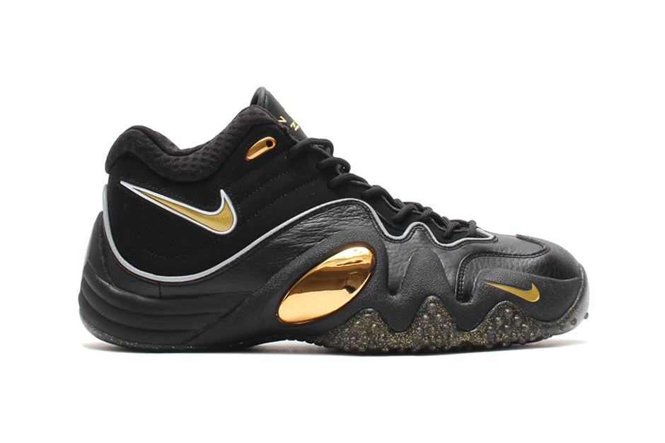 Image of Nike Zoom Uptempo V Premium Black/Metallic Gold-White