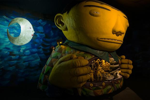 """Image of Os Gêmeos """"Ópera da Lua"""" @ Galeria Fortes Vilaca"""