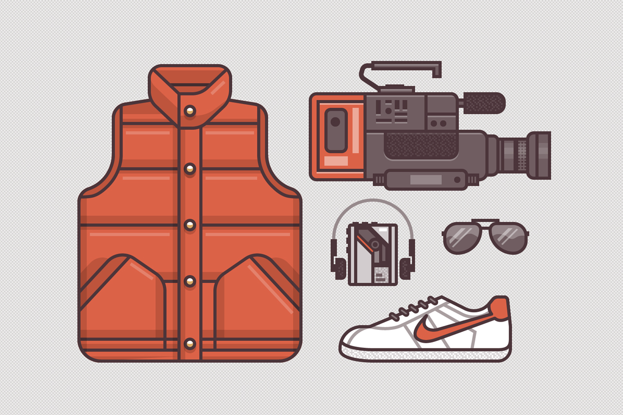 Image of Ryan Putnam's Illustrations of Famous Movie Costumes
