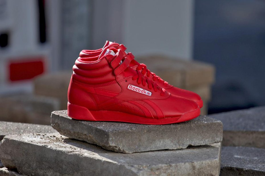 "Image of Reebok Freestyle Hi SPIRIT ""Excellent Red"""
