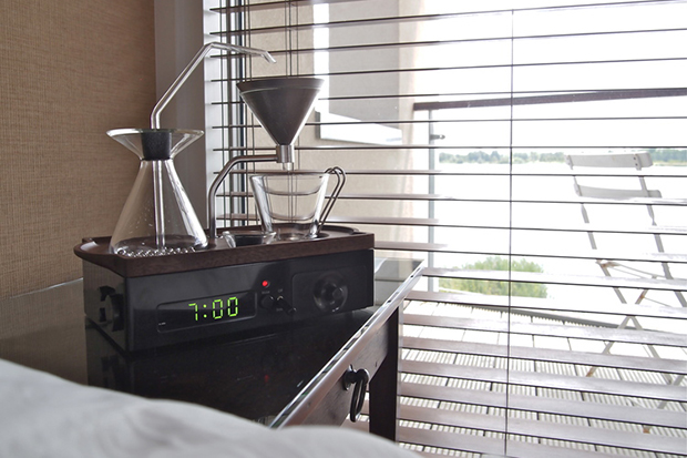 Image of The Barisieur Alarm Clock and Coffee Brewer