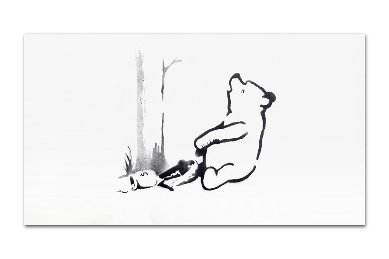 "Image of Two of Banksy's Central Park ""Spray Art"" Canvases Sell for $214,000 USD"