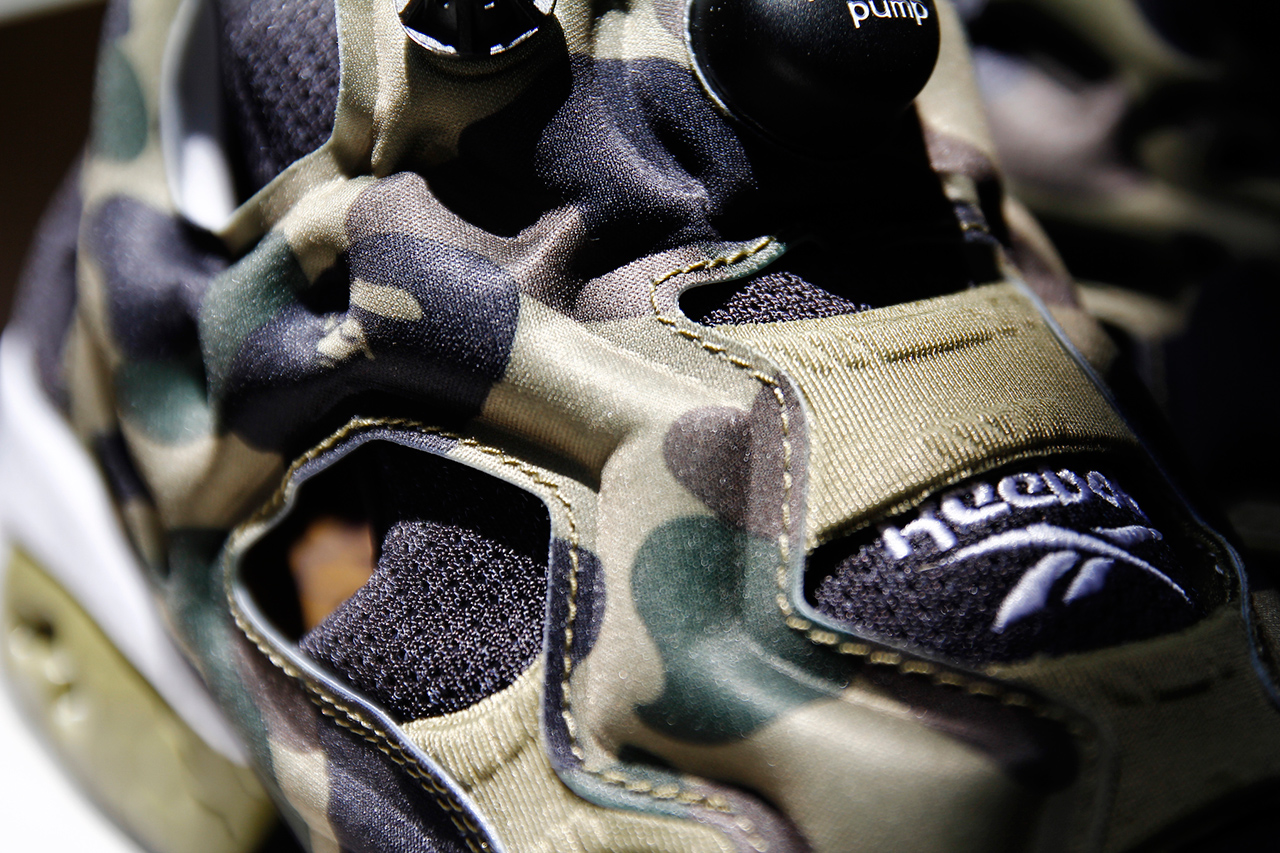 "Image of A Closer Look at A Bathing Ape x mita sneakers x Reebok Instapump Fury OG ""Camo"""