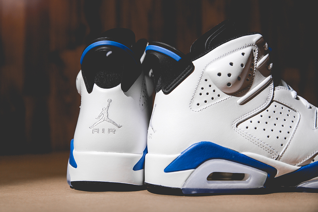 "Image of A Closer Look at the Air Jordan 6 Retro ""Sport Blue"""