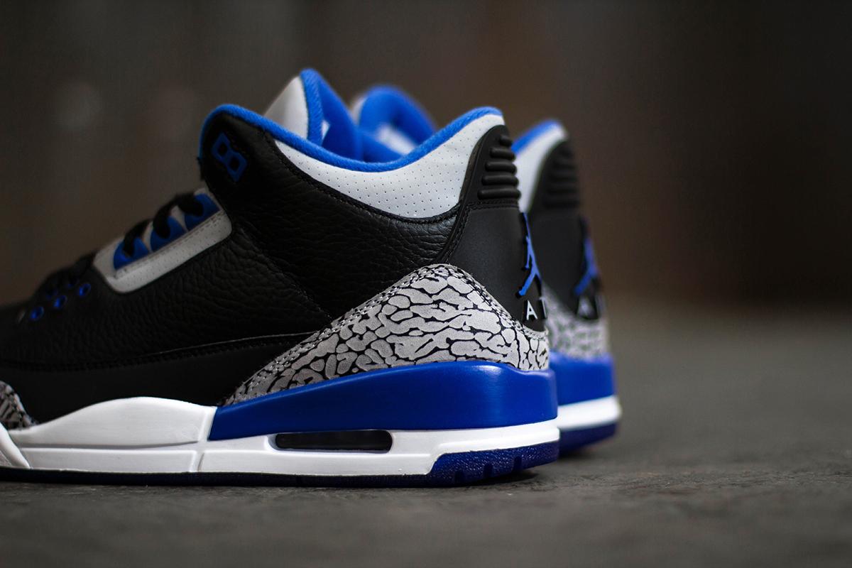 "Image of A Closer Look at the Air Jordan 3 Retro ""Sport Blue"""