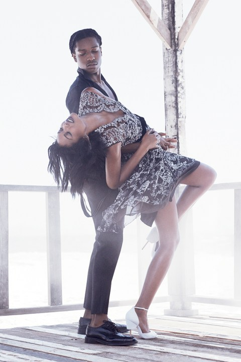 Image of A$AP Rocky & Chanel Iman by Mikael Jansson for Vogue
