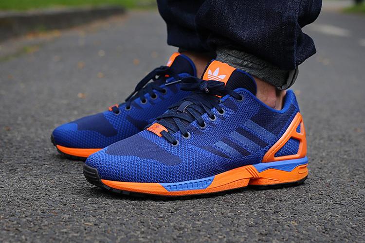 Image of adidas Originals ZX Flux Weave Blue/Orange