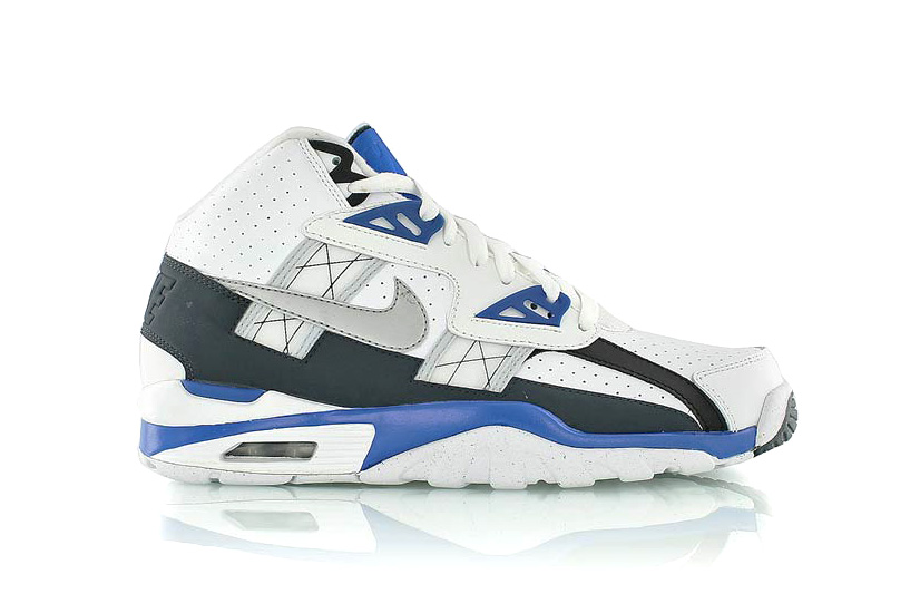 Image of Nike Air Trainer SC High White/Platinum-Hyper Cobalt