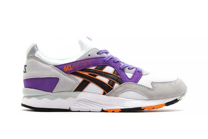 Image of ASICS Gel Lyte V White/Purple/Orange