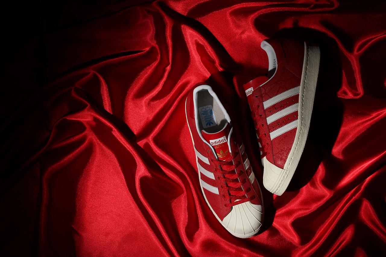 Image of atmos x adidas Originals Superstar 80s G-SNK 8 Red/3M