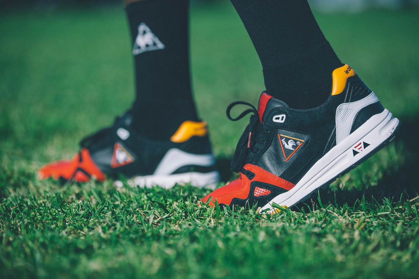 "Image of Highs and Lows x Le Coq Sportif R1000 ""Swans"" Pack"