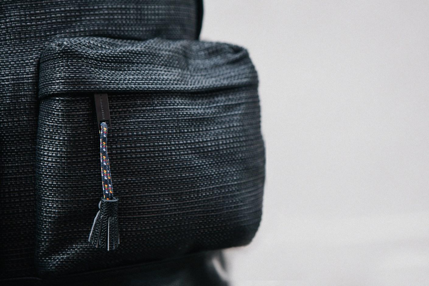 Image of KRISVANASSCHE 2014 Fall/Winter Basket Weave Backpacks