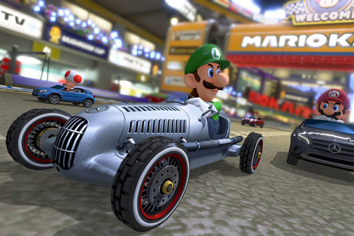 Image of Mario Kart 8 to Feature Vintage Cars from Mercedes-Benz