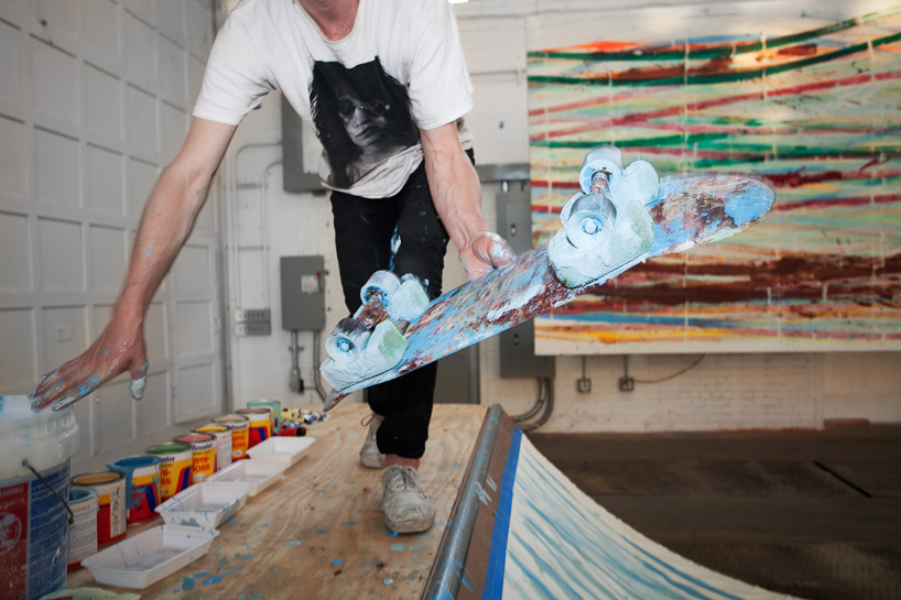 Image of Matt Reilly Skateboard Painting at Mana Contemporary