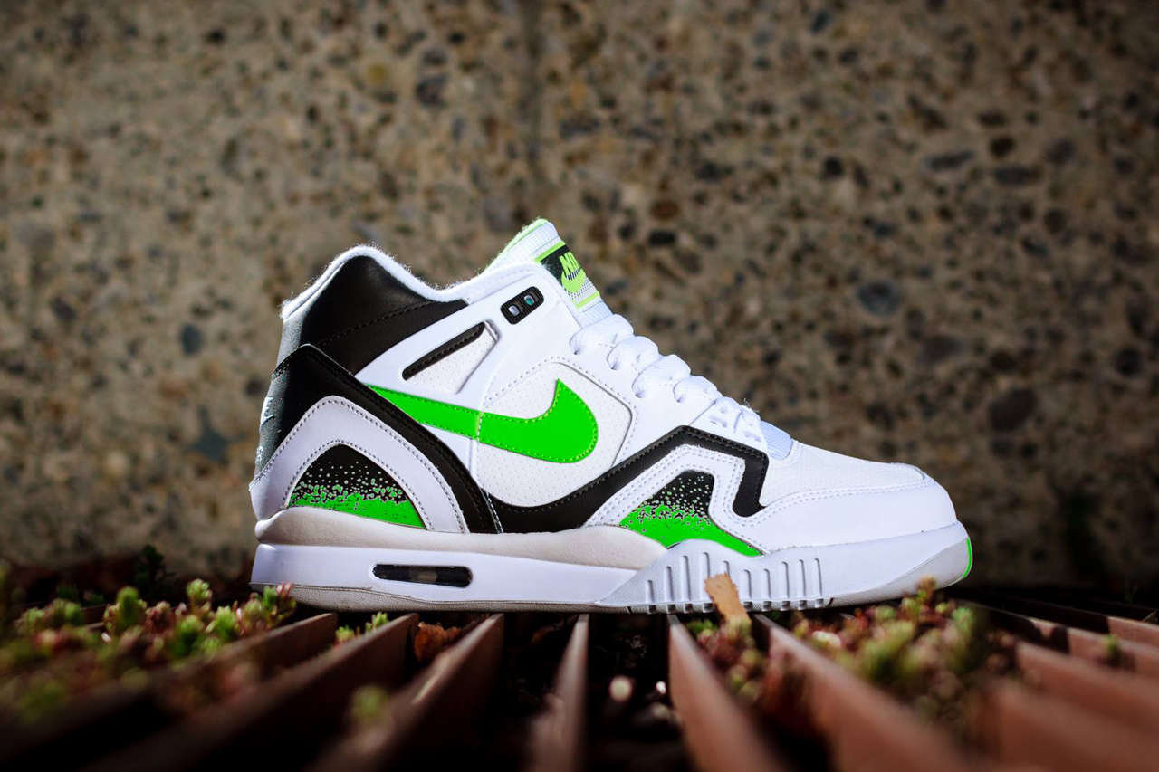 Image of Nike Air Tech Challenge II White/Poison Green-Black-Ash Grey