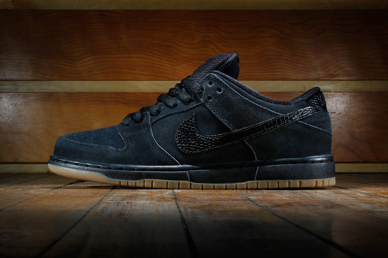 Image of Nike SB Dunk Low Pro Black/Gum Medium Brown