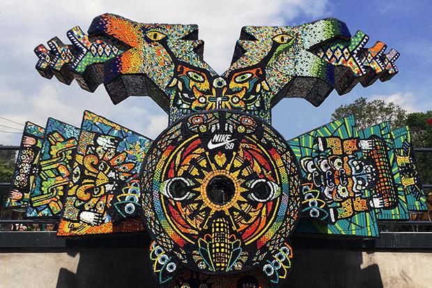 Image of Nike SB Templo Mayor Skatepark Heavily Features Aztec Inspirations