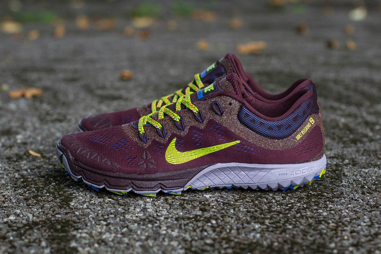 Image of Nike Zoom Terra Kiger 2 Deep Burgundy/Fierce Green-Purple Steel