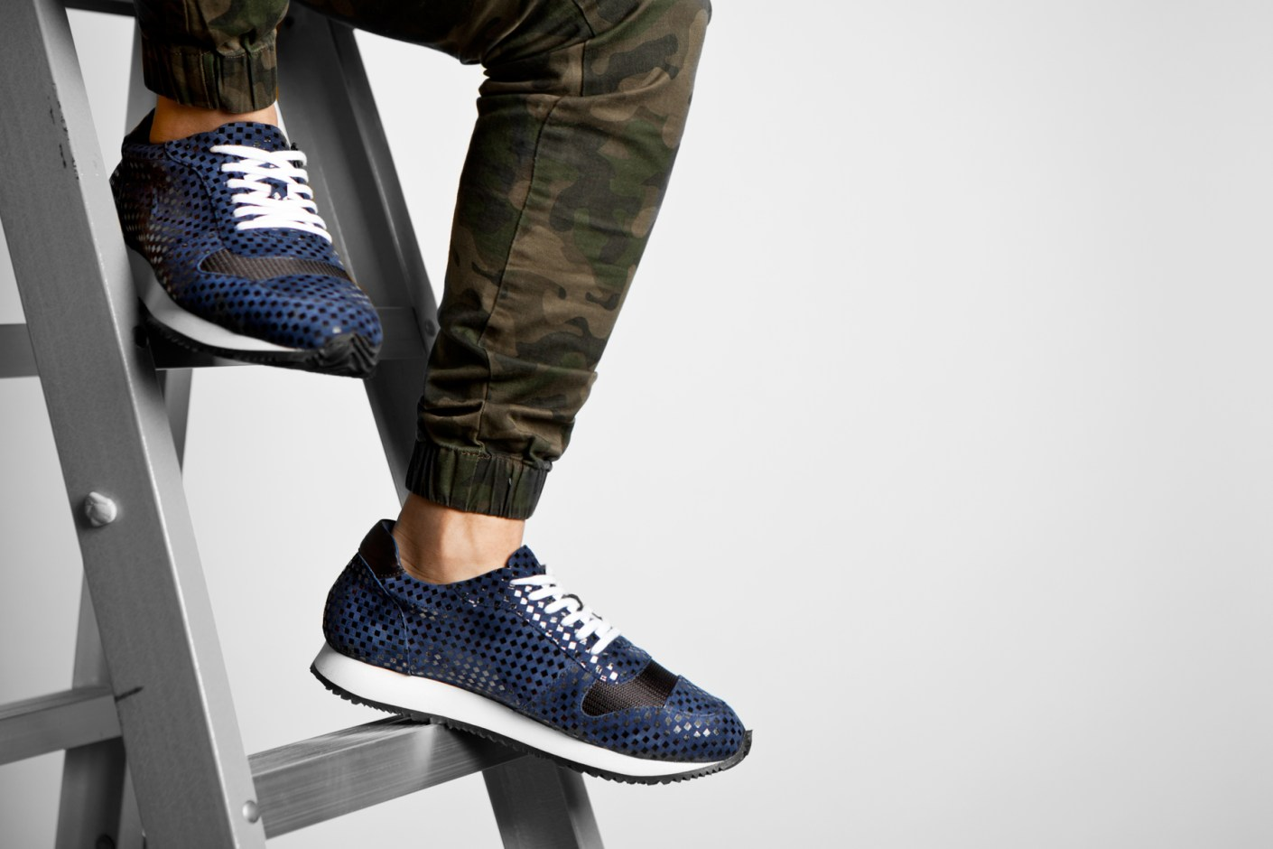 Image of Opening Ceremony 2014 Fall/Winter Navy Arrow Sneakers