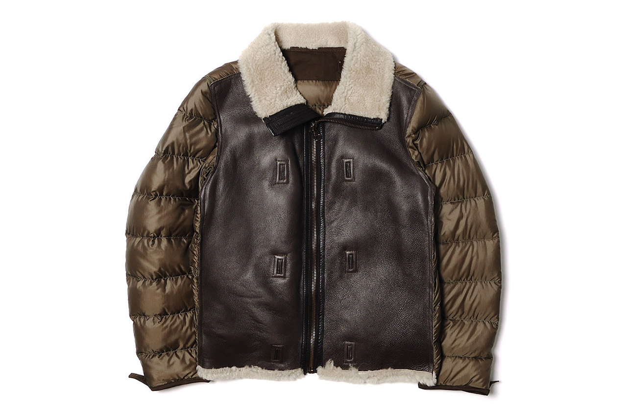 Image of Ten C Shearling Liner Off White Jacket