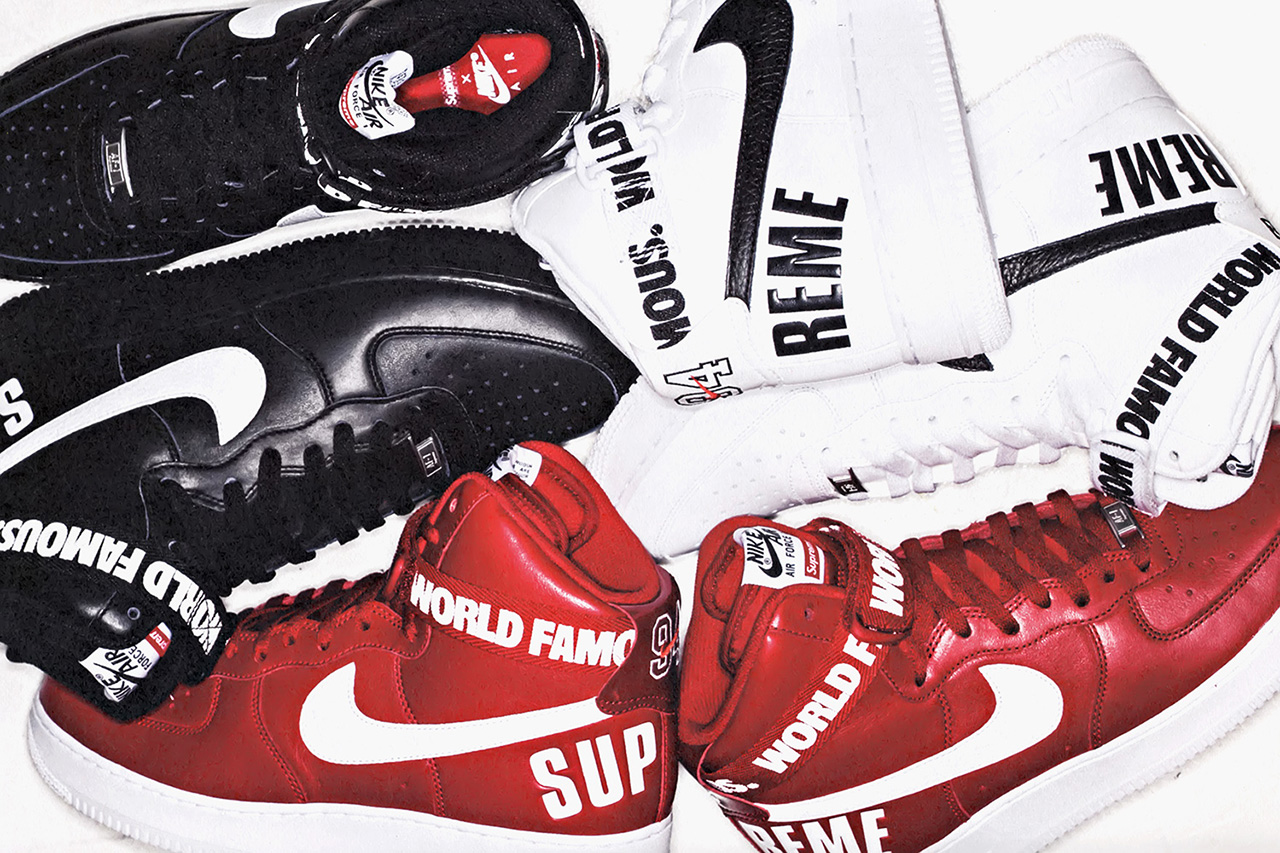 Image of A First Look at the Supreme x Nike Air Force 1 High Collection