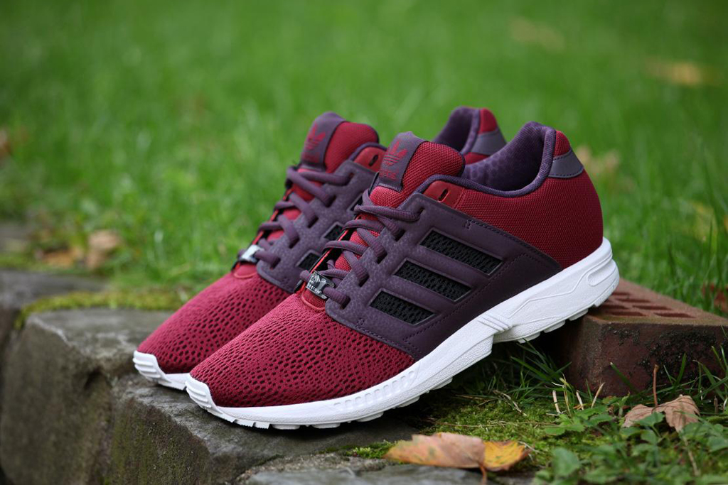 Image of adidas Originals ZX Flux 2.0 Burgundy/White