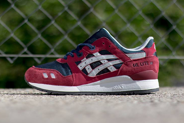 Image of ASICS Gel Lyte III Burgundy/Soft Grey