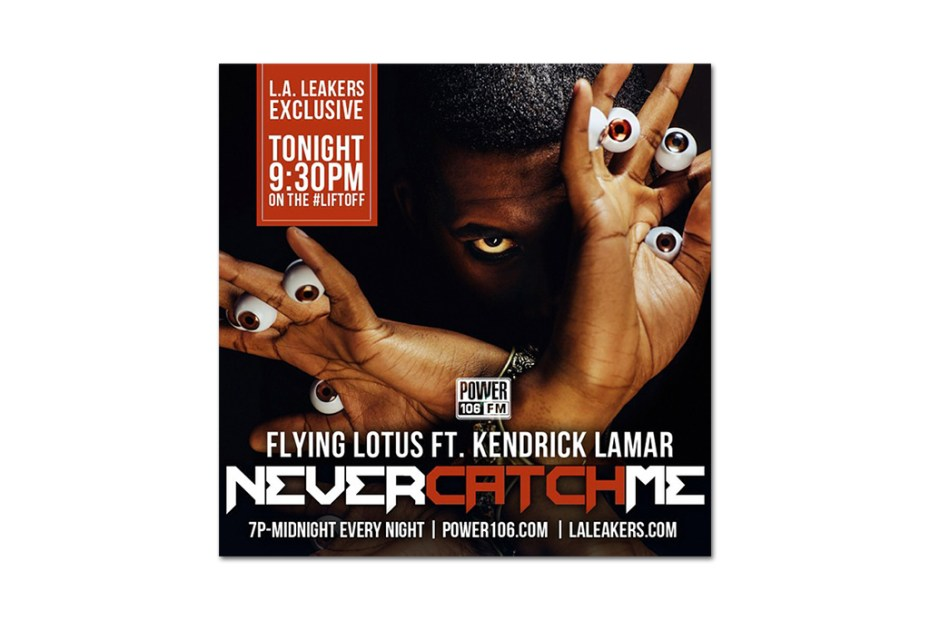 Image of Flying Lotus featuring Kendrick Lamar - Never Catch Me