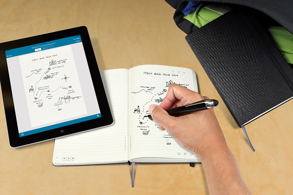 Image of Moleskine Notebooks and Livescribe Smartpens
