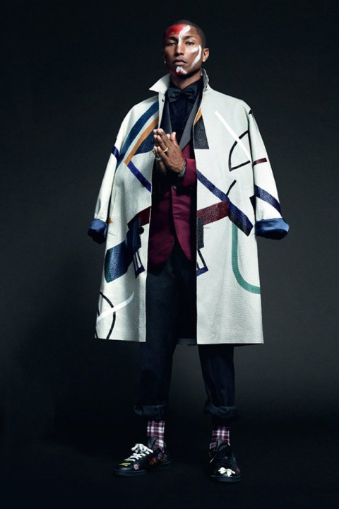 Image of Pharrell Covers British GQ's 2014 October Issue