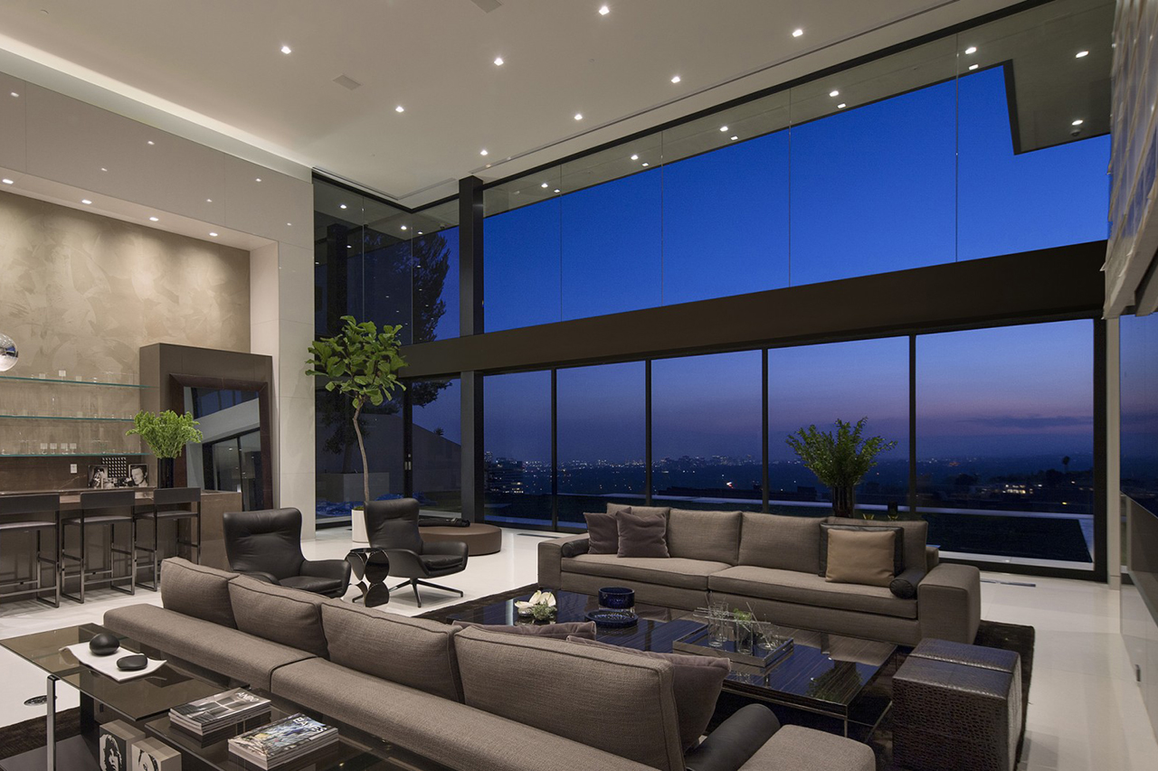 Wohnzimmer Bar Sunset Strip Residence By Mcclean Design Architects