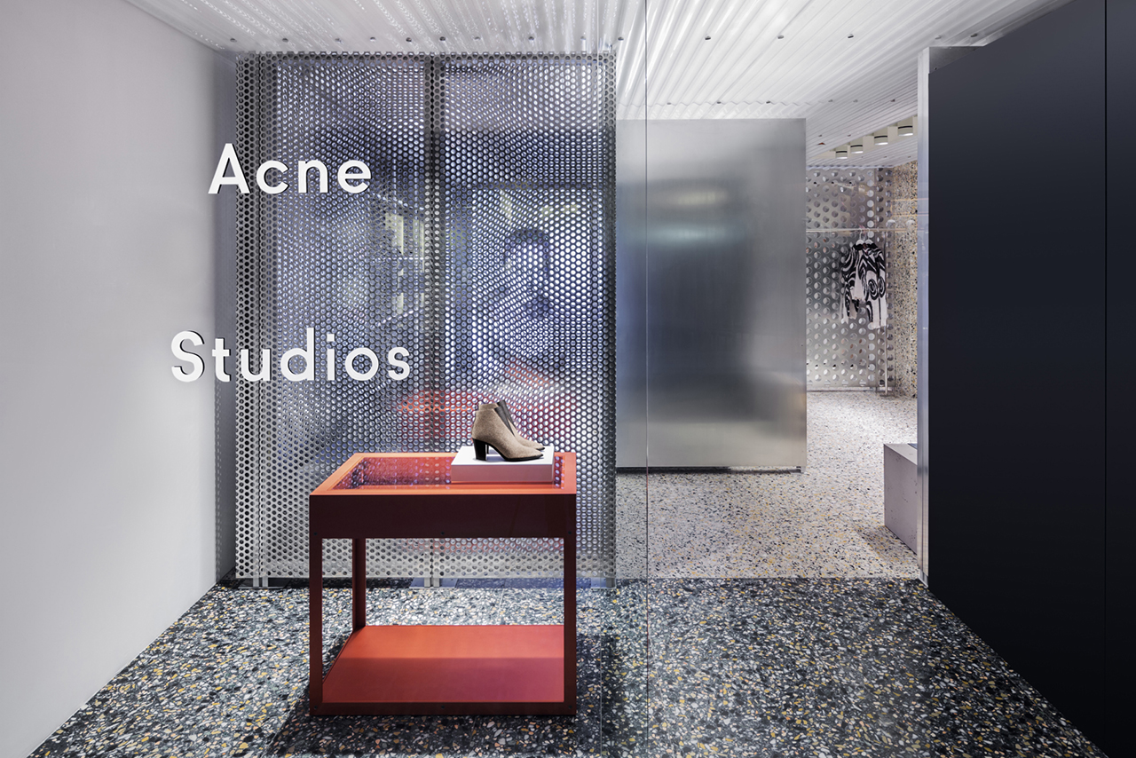 acne studios hong kong store opening team yellow. Black Bedroom Furniture Sets. Home Design Ideas