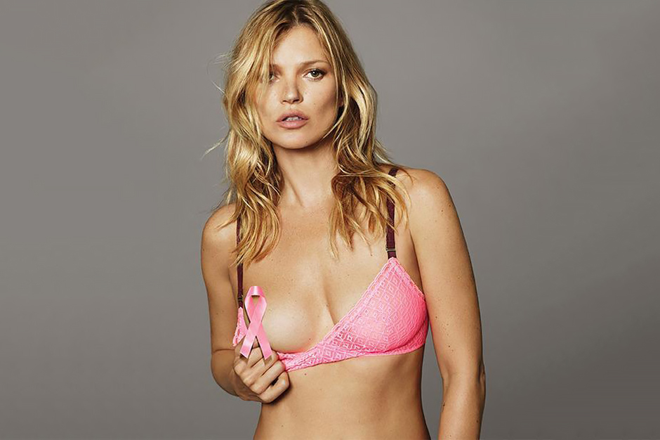 Image of Kate Moss Teases in New Breast Cancer Awareness Campaign