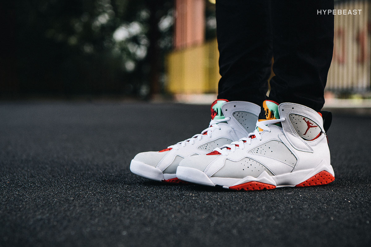 Look Retro A Closer Look At The Air Jordan 7 Retro Quothare Quot Hypebeast