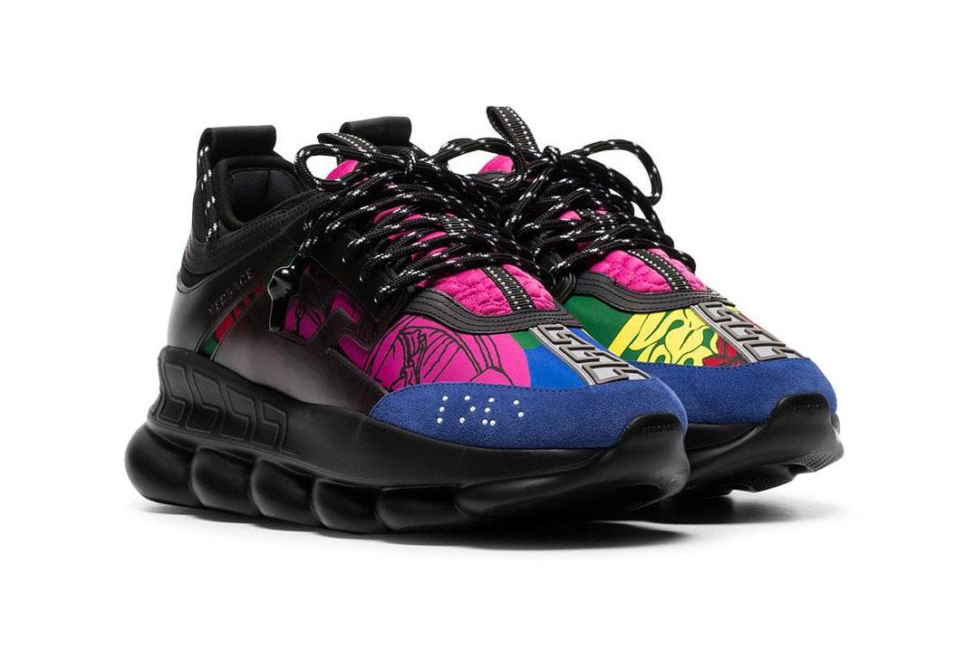 Versace Drops Chain Reaction In Black Multicolor Hypebeast
