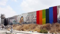 Palestinian Artist's Rainbow Mural on the West Bank Wall ...