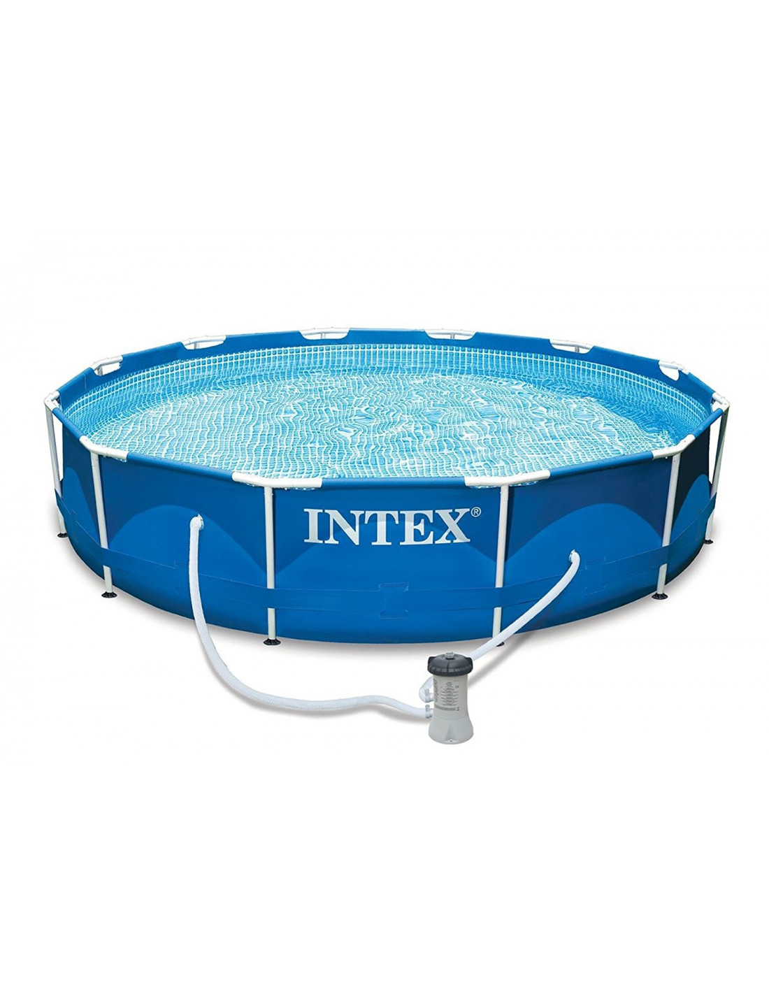 Intex Zwembad Frame Intex Piscine Tubulaire Ronde Metal Frame 366 X 76 Cm