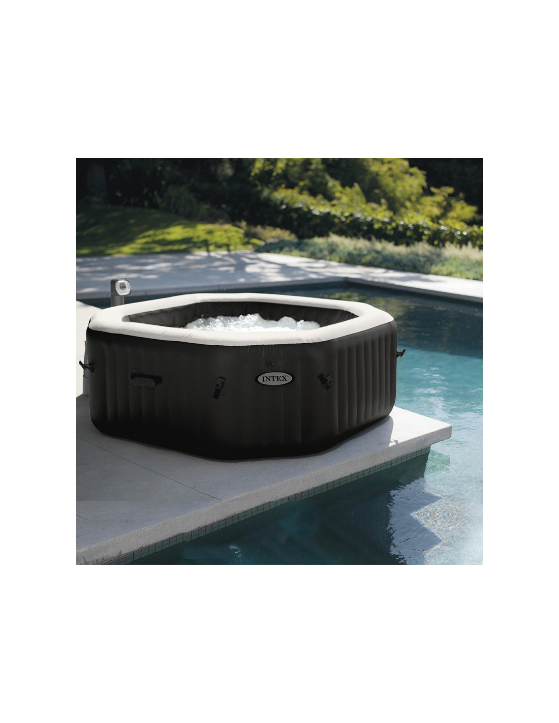 Intex Pure Spa Octogonal Bulles Jets Eco 6 Places 2 18 X 76 M