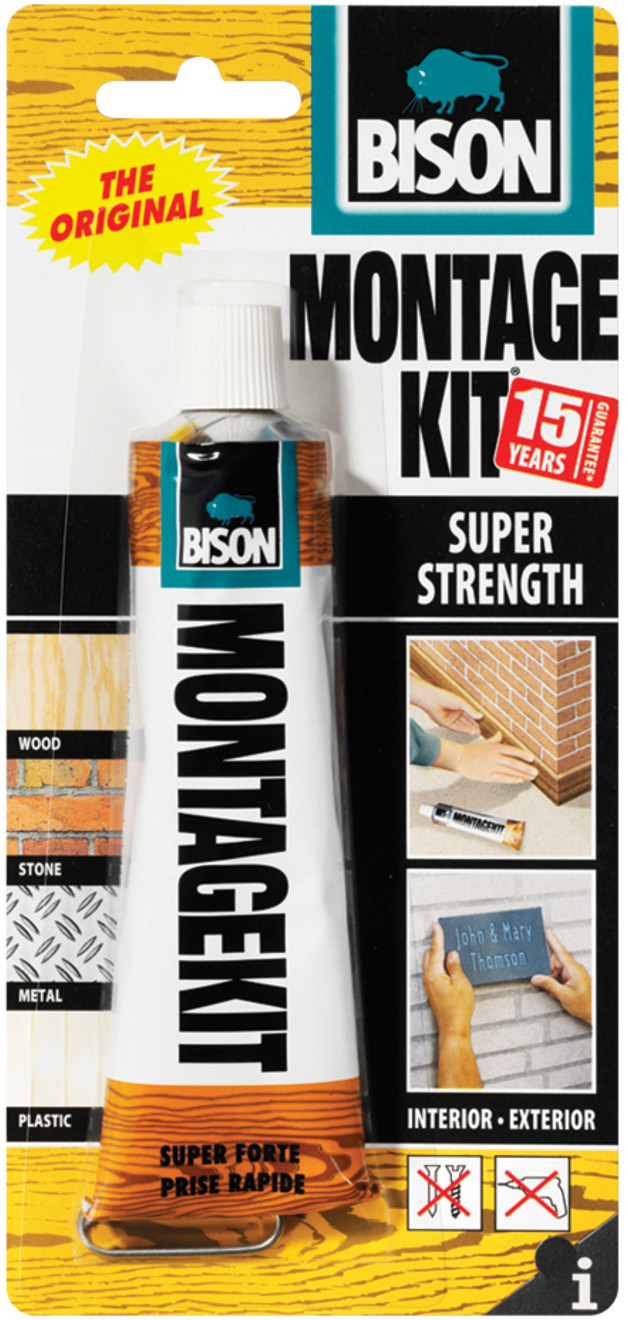 Bison Montagekit Super Bison Montagekit Super Strength Extra Strong Universal And Filling Assembly Adhesive Beige 125 G Hyper Brico