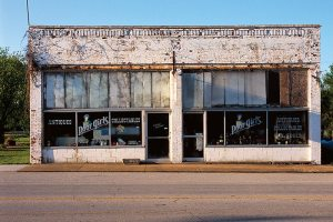 Failed small town businesses were frequently taken over by antique dealers.