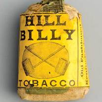 Hill Billy Sack of tobacco circa 1910.  (click to enlarge)