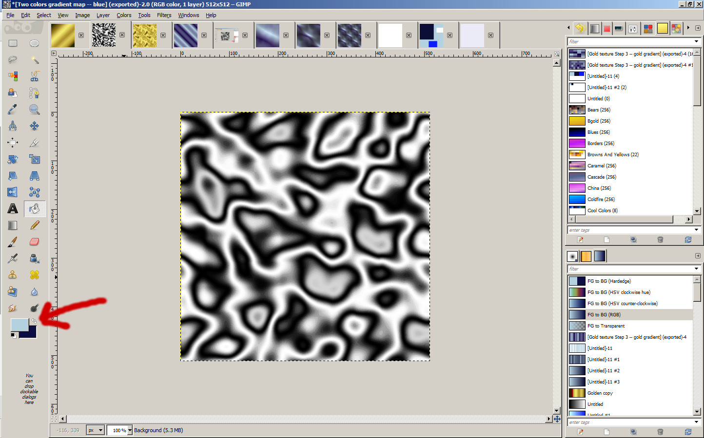 2 Gimp Tutorial How To Make Quick Metal And Silk Textures In Gimp Hypergrid Business